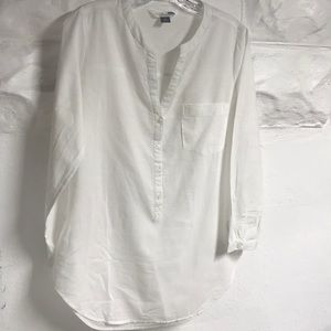 Old Navy white v-neck tunic